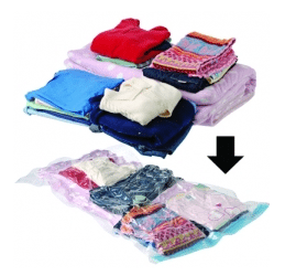 variety of vacuum sealed clothes