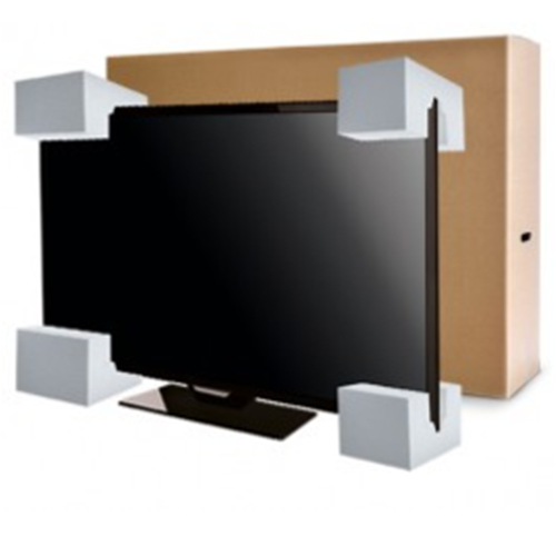 tv protected by styrofoam