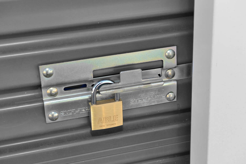 locked storage shed